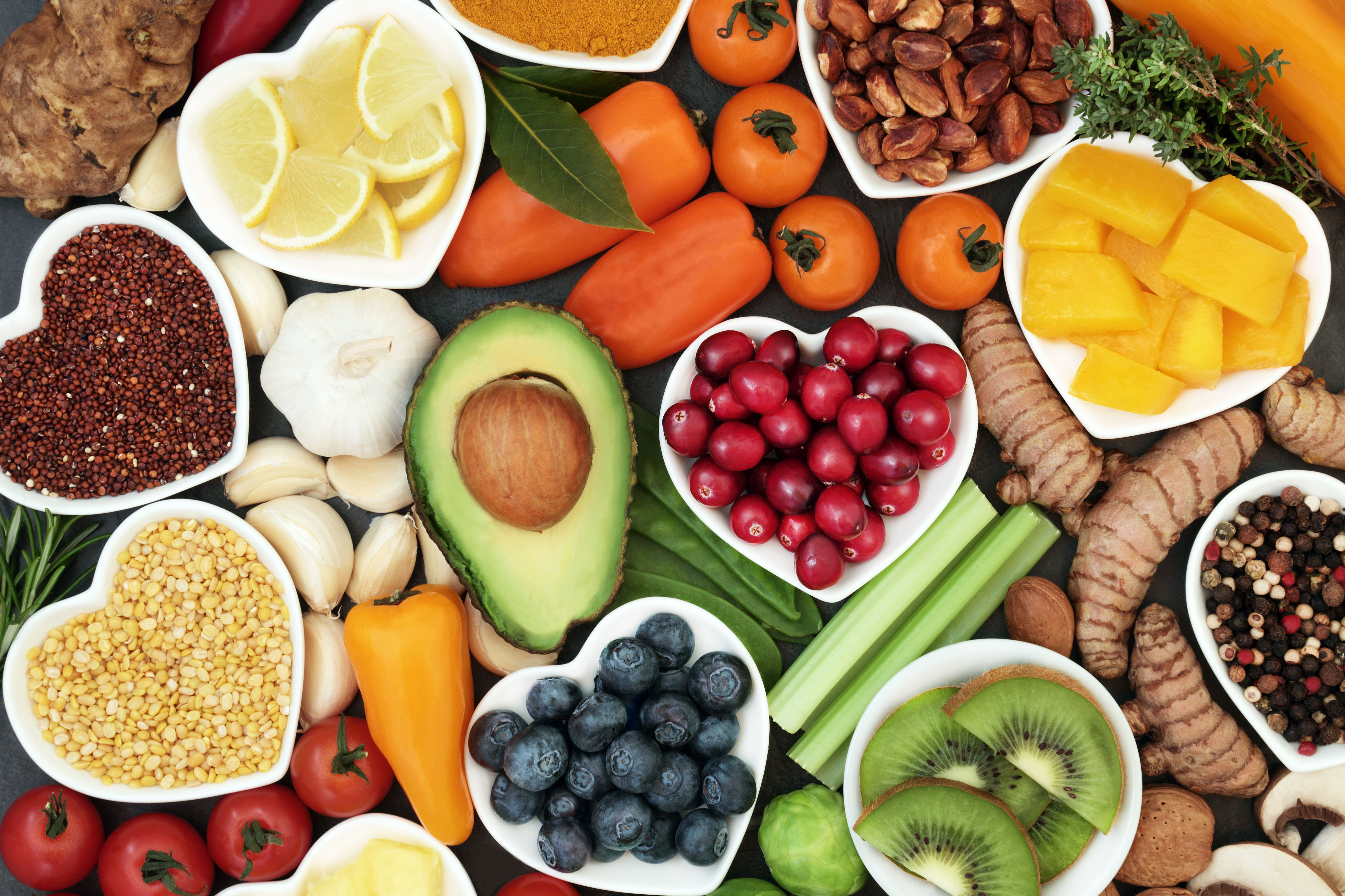 Plant based foods rich in antioxidants