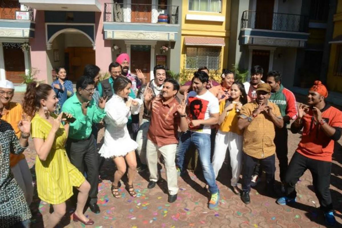 Street Dancer 3D's actors dance with 'Taarak Mehta Ka Ooltah Chashmah' cast