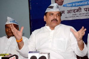 AAP MP Sanjay Singh uses his MP quota to send migrant workers to Patna