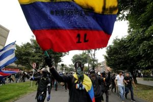 11 injured after anti-government protests turn violent in Colombia