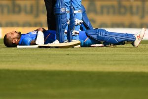 Shikhar Dhawan hit on rib-cage, won't take field during Australia innings: BCCI