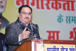 JP Nadda challenges Rahul Gandhi to speak 10 sentences on CAA, says Congress misleading country