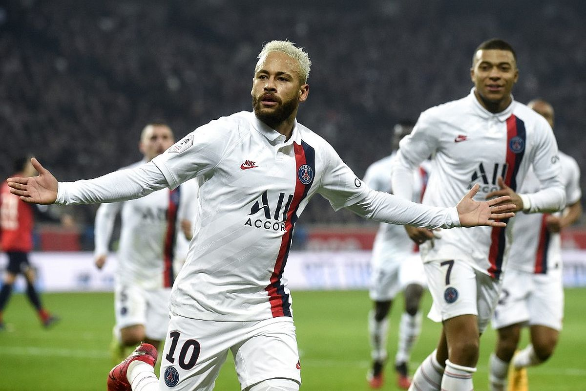 Neymar pays tribute to late NBA legend Bryant in PSG's 2-0 win over Lille