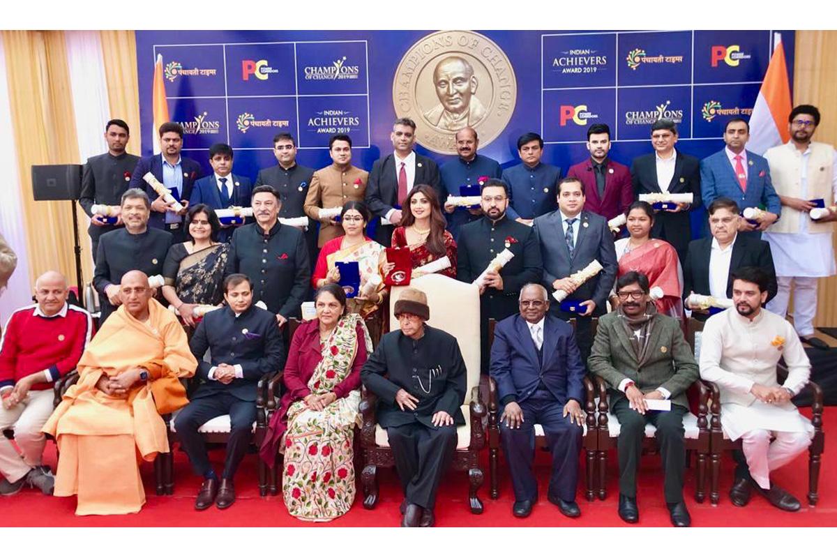 Anurag Thakur gets Champions of Change 2019 award