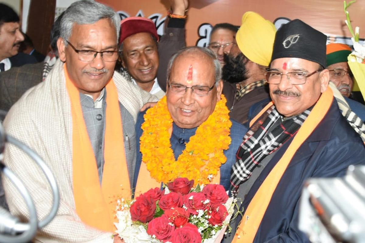 Bansi Dhar Bhagat, Uttarakhand, BJP, Dehradun, Trivendra Rawat