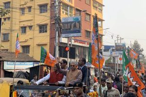 Entire state is on a heap of explosives, says Dilip Ghosh at BJP's Abhinandan Jatra