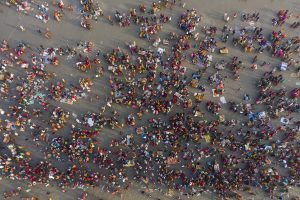 Makar Sankranti: 46 lakh devotees take holy dip