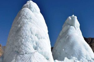 Harsh winter, heavy snowfall have recharged Ice Stupas in Ladakh