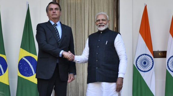 India, Brazil ink 15 accords; pledge to achieve $15 billion bilateral trade target by 2022