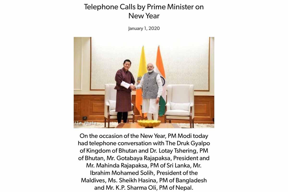 New Year, Narendra Modi, Imran Khan, Pakistan, Bangladesh, Sri Lanka, Maldives, Nepal, Bhutan