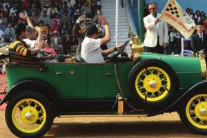 Vintage vehicles mesmerise the city
