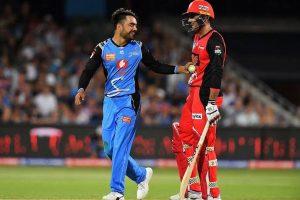Rashid Khan bags third T20 hat-trick in BBL clash