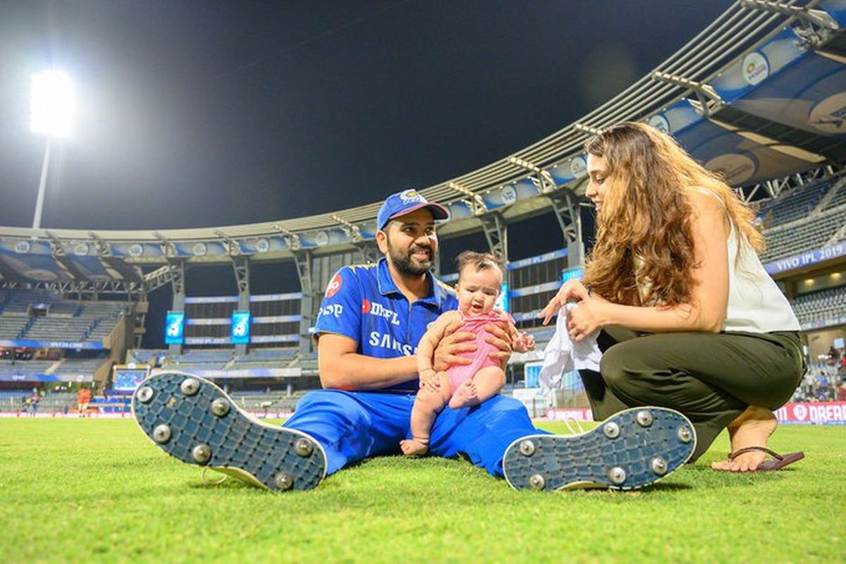 See Rohit Sharma Shares Cute Picture Of Daughter Samaira Playing With Toys