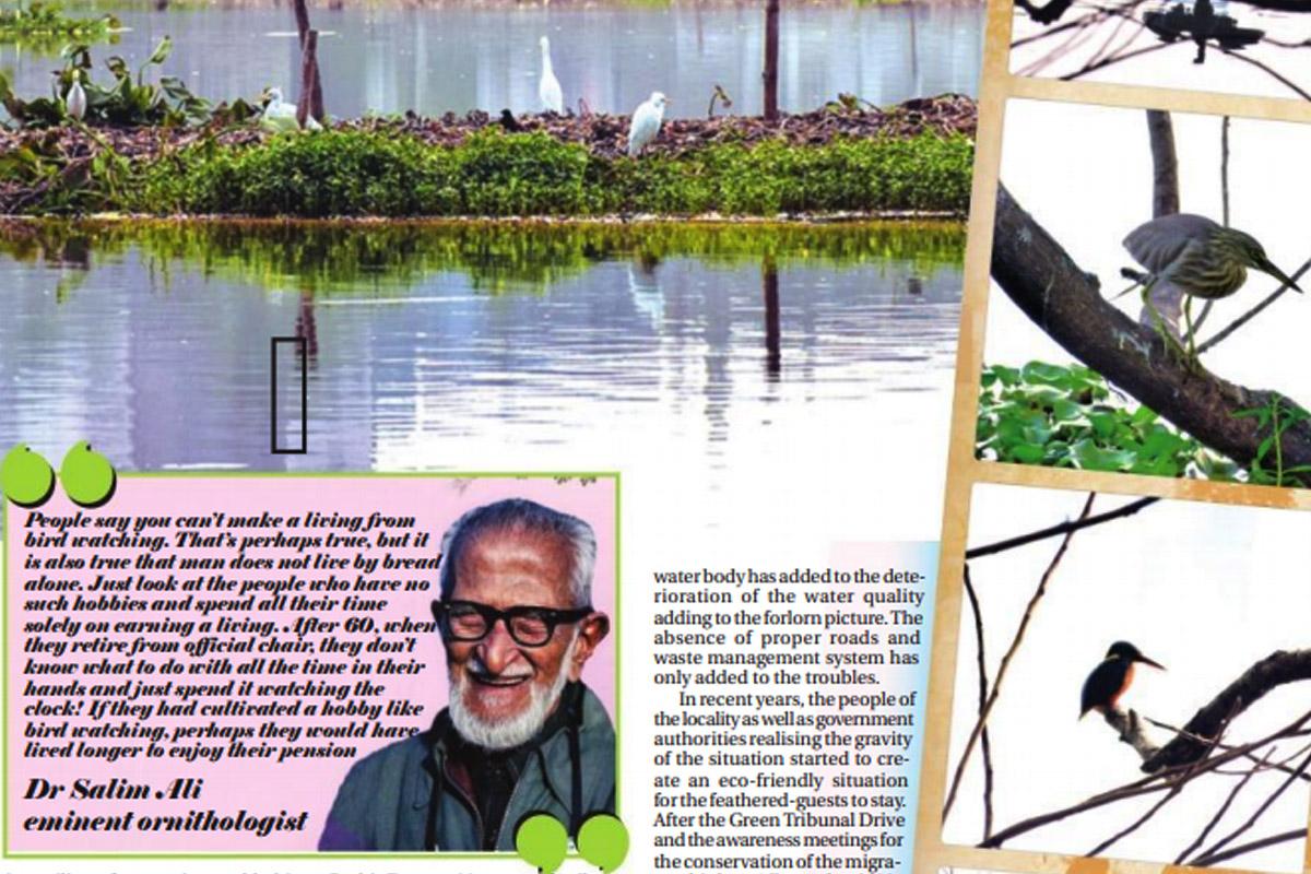Santragachi Jheel, migratory birds, Vidyasagar Setu, Prabir Dutta, Gopal Sarkar, Statesman Print Journalism School