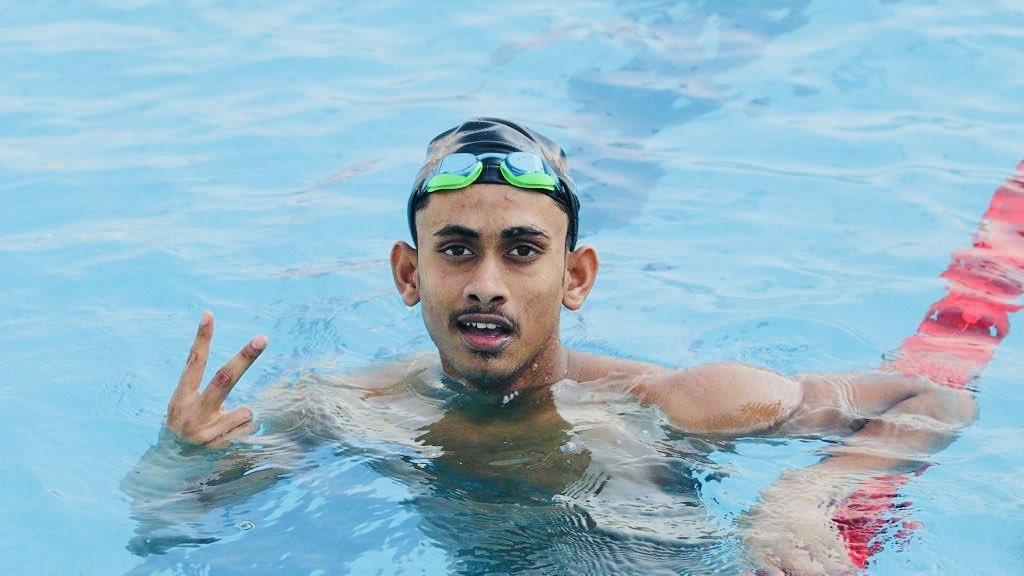 Swadesh Mondal., Swimming, Khelo India Youth Games, 2024 Paris Olympics
