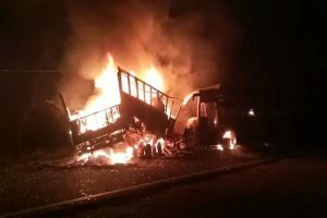 UP: 20 people feared dead after bus catches fire; PM Modi, Rahul Gandhi express grief