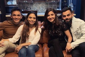 Sunil Chhetri, Sonam host Virat Kohli, Anushka Sharma for dinner; share pic on social media