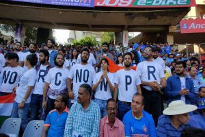 Anti-CAA protest enters sporting arena, fans oppose law during India-Australia ODI at Wankhede Stadium