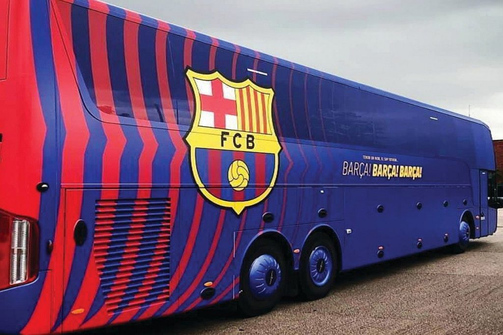 fc barcelona team bus gets lost ahead of supercopa semifinal tie against atletico madrid fc barcelona team bus gets lost ahead