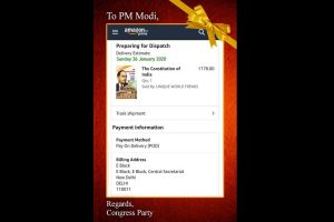 Copy of Constitution: Congress's 'gift' to PM Narendra Modi on Republic Day