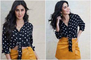Katrina Kaif gives major retro vibes as she opts for polka dot shirt