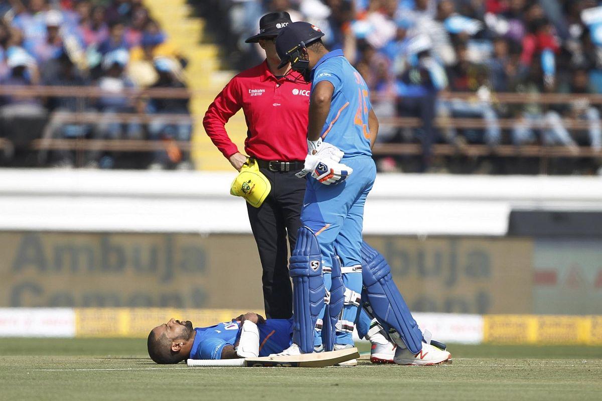 Shikhar Dhawan, India vs Australia ODI Series 2020, IND vs AUS, Shilhar Dhawan injury, Dhawan injured