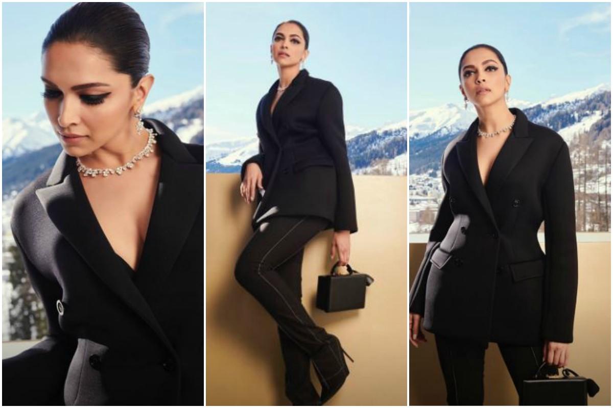 Black outfit, Deepika Padukone, Priyanka Chopra Jonas