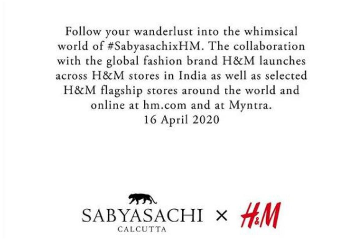 Sabyasachi, H&M, Wanderlust