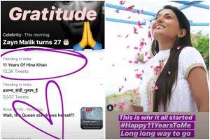 Yeh Rishta Kya Kehlata Hai: Hina Khan shares throwback pic as she completes 11 years in industry