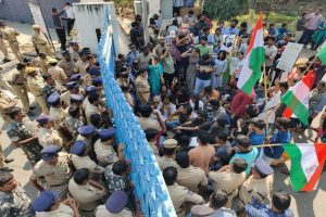 Students protesting at Hyderabad University detained at varsity's main gate