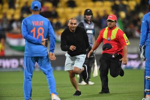 NZ vs IND, 4th T20I: Pitch invaders disrupt play during New Zealand's innings