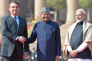 Brazilian President Jair Bolsonaro given ceremonial welcome at Rashtrapati Bhavan