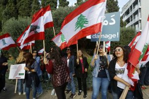 Lebanese journalists protest against police using excessive force