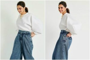 Going out on a date? Why not opt for Deepika Padukone's white bouffant sleeves top