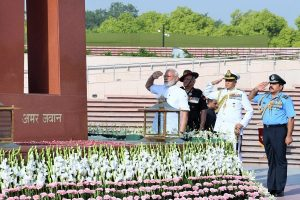 In a first, PM Modi pays homage to fallen soldiers at National War Memorial on Republic Day