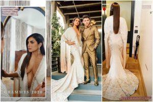 Grammys 2020: Priyanka Chopra Jonas turns heads as she opts for white kimono dress