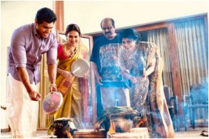 Rajinikanth's daughter Soundarya celebrates 'Thala Ponga' with husband and family