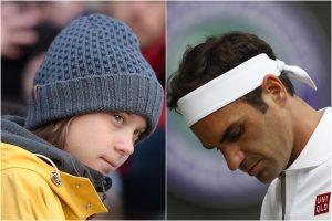 Climate change activist Greta Thunberg criticises Roger Federer
