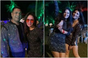 New bride Mona Singh aces red chooda with her black outfit; See pics