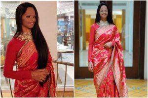 Laxmi Agarwal looks beautiful in this Sabyasachi's silk saree