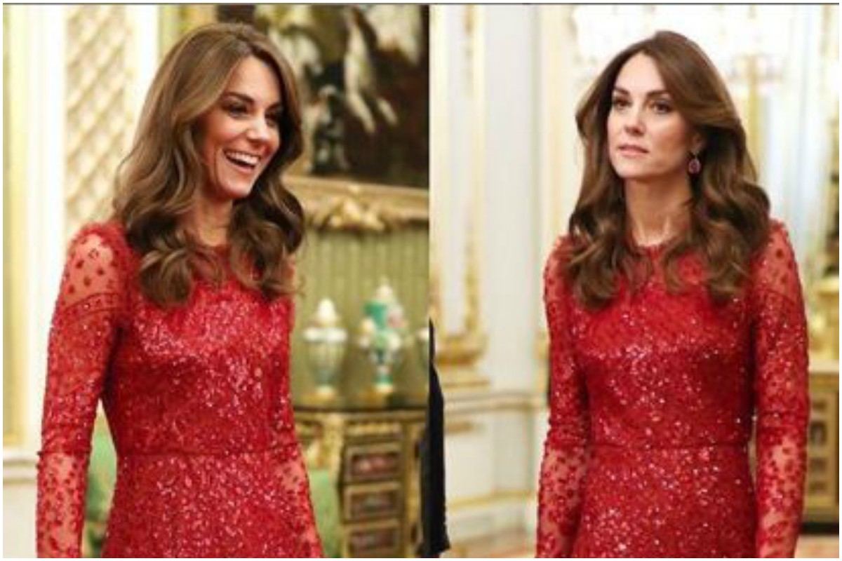 Want something royal for an evening party? Go for Kate Middleton red sequin dress