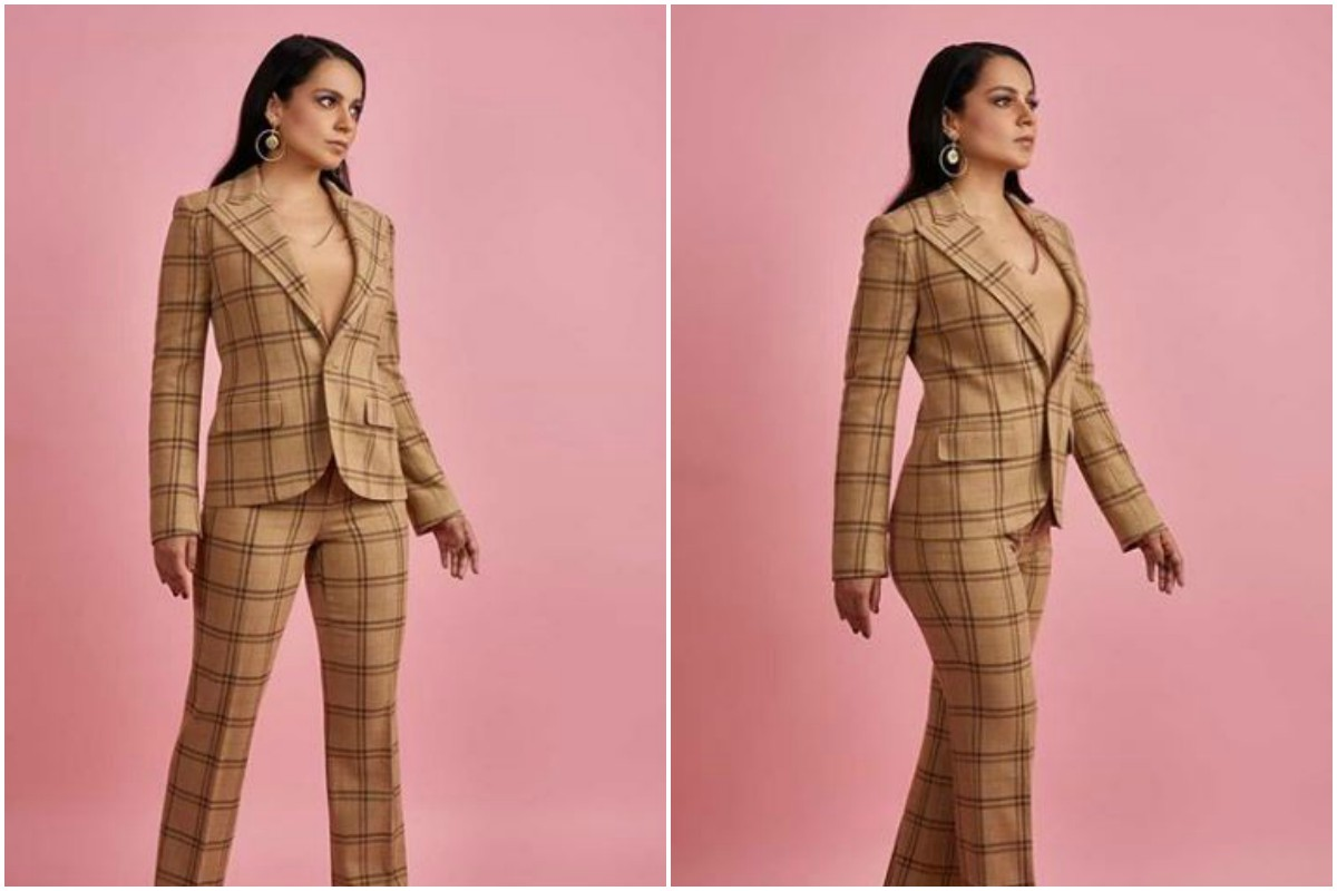 Kangana Ranaut's checkered pantsuit gives 'Boss Lady' vibes, see pics