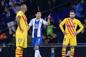 Chinese media hails Wu Lei's goal against Barcelona