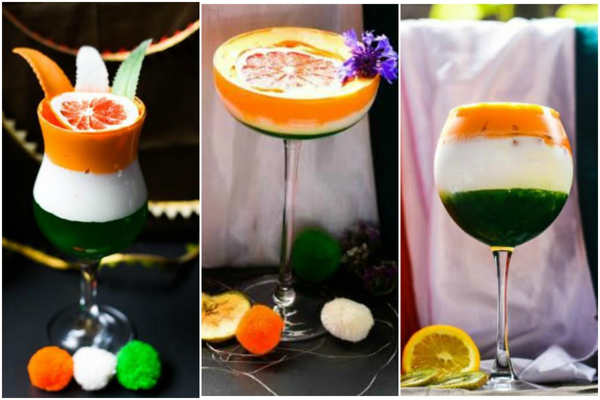 Tri-coloured mocktails for Republic Day