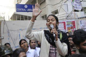 Aishe Ghosh not allowed to participate in debate inside CU campus; hits out at saffron brigade