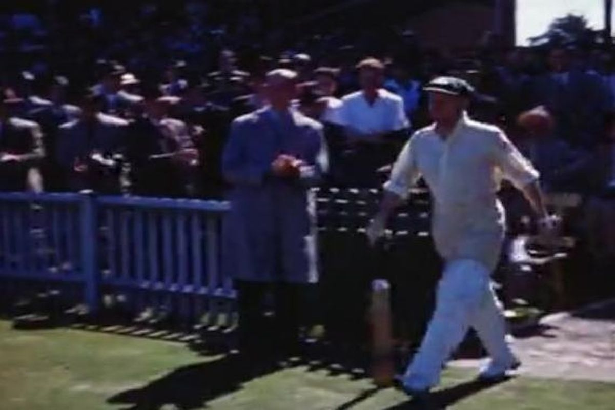Unique colour footage of Don Bradman found after 71 years
