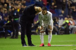 Real's Hazard at risk for City clash after latest injury