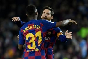 Ansu Fati and Lionel Messi connection sees Barca hold on against Levante