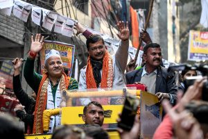 Delhi poll results to be declared today; Kejriwal in pole position