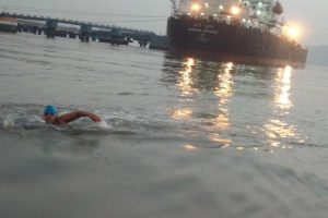 Naval child with special needs – Jiya Rai swims 14 km in open water with autism, sets world record